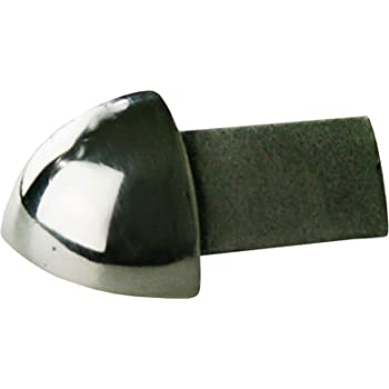 H: 10mm tondo acciaio inox V2A satinate langolo non /è verniciato, la superficie non pu/ò staccarsi materiale solido PREMIO angolo esterno