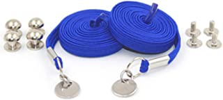 ZQY Elastic No Tie Shoelaces with One Handed Buckle,Convenient Flat Elastic Shoe Laces for Kids and Adults (Royal Blue)