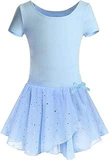 Girls Ruffle Sleeve Ballet Dance Dress with Tutu Skirt Leotards