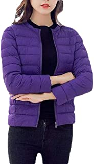 Macondoo Womens Fashion Outwear Puffer Quilted Cotton-Padded Down Jacket