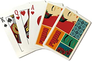 Frida - Vector Silhouette - Pop Art Cartoon Strip (Playing Card Deck - 52 Card Poker Size with Jokers)