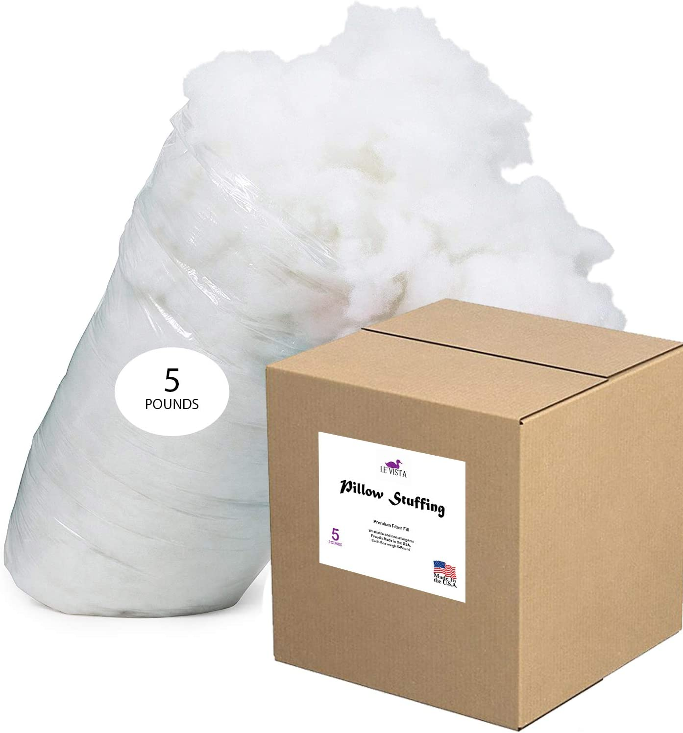 Le'vista Ranking TOP10 Polyester Fiber Max 53% OFF Fill 5 Stuffing Pillow Lbs