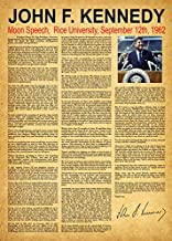 Wallbuddy JFK Moon Speech We Choose to go to The Moon 1962 (12 x 16, Vintage)