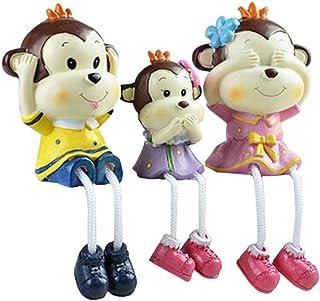 Blancho [Singe-Une Famille de Trois] Creative Décoration-poupées, poupées de Mode