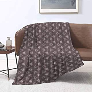Luckyee Swaddle Blanket Geometric Retro Pattern with Optical Illusion Design with Circles Geometric Illustration Multicolor Print Summer Quilt Comforter 40