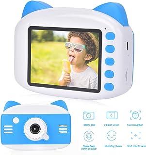 Cámara para niños pantalla a color de 2 pulgadas Aspecto de dibujos animados Cámara para niños 1080P cámaras frontal y trasera efectos especiales de soporte marco de fotos y efectos de filtro cám