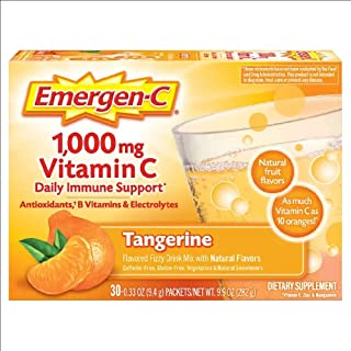 Emergen-C Vitamin C Tangerine Flavored Drink Mix 30 Packets, 0.33 oz