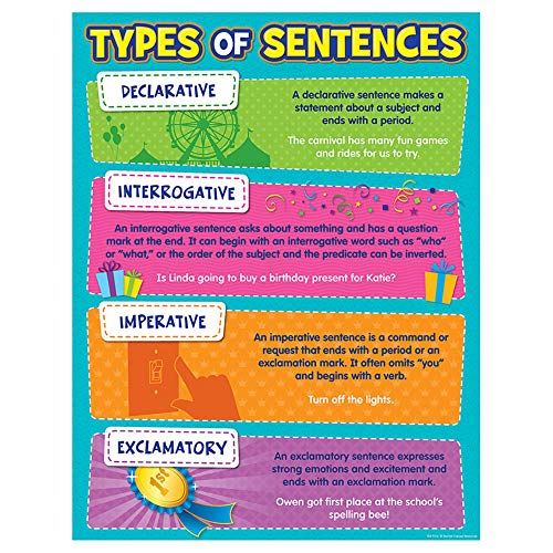 Teacher Created Resources Type of Sentences Chart (7574)