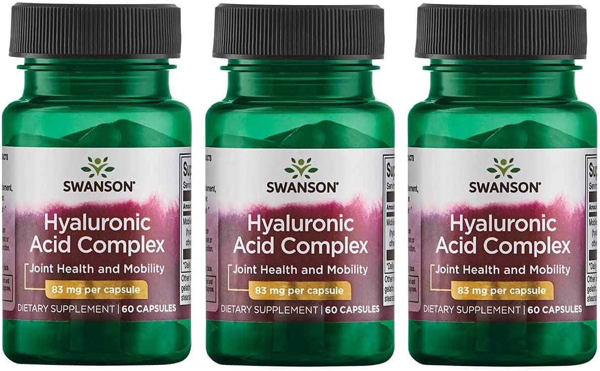 Swanson Hyaluronic Acid Free shipping anywhere in the nation Dallas Mall Complex 83 60 mg 3 Pack Caps