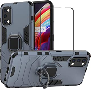 2ndSpring Case for Realme 7 Pro with Tempered Glass Screen Protector,Hybrid Heavy Duty Protection Shockproof Defender Kick...