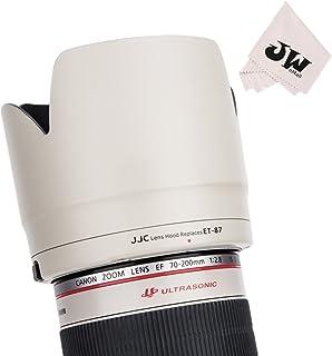 JJC専用リバーシブルLens Hood Shade for Canon EF 70–200mm f / 2.8l is III USM & Canon EF 70–200mm f / 2.8l is II USMレンズReplaces Canonレンズフードet - 87、ボタンをロック付きまたはリリース–ホワイト