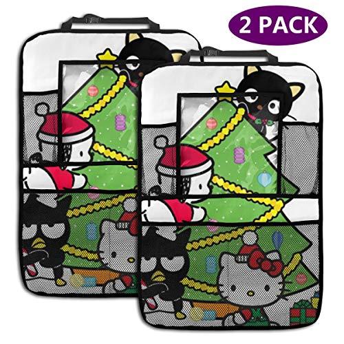 TBLHM Hello Kitty Lot de 2 organiseurs de siège arrière de Voiture avec Support pour Tablette