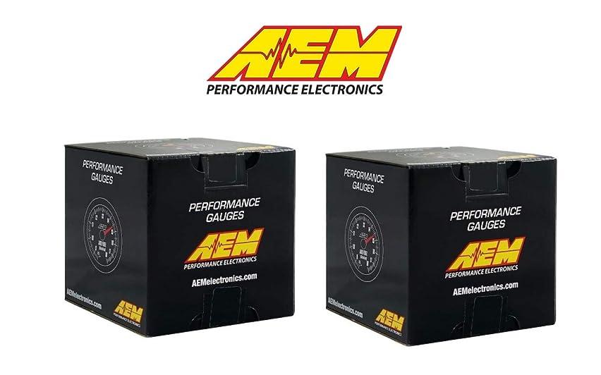 AEM Electronics 2 Gauges Combo Set - Oil Temperature + UEGO 4.9LSU WideBand Air Fuel Ratio