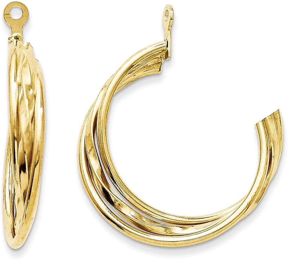 14k Polished Hoop Earring Jackets