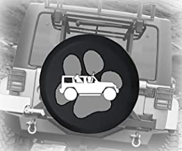Spare Tire Cover Paw Print The Wave American Offroad (Fits: Jeep Wrangler Accessories, Camper, RV Accessories) Size