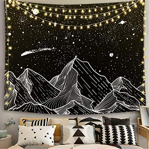 Paño para colgar en el hogar tapiz blanco y negro para colgar en la pared toalla de playa manta para sentarse en la playa