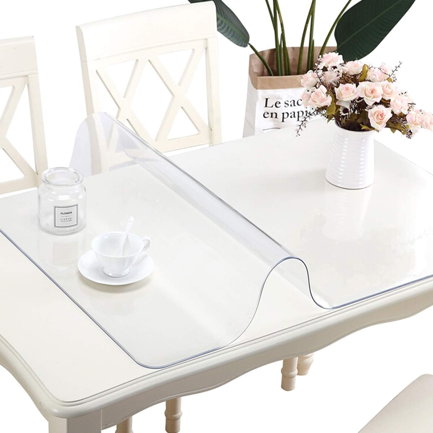 40X80 Inch 1.5mm Clear Plastic Protector Dining Portland Mall Jacksonville Mall Coffee Tab Table