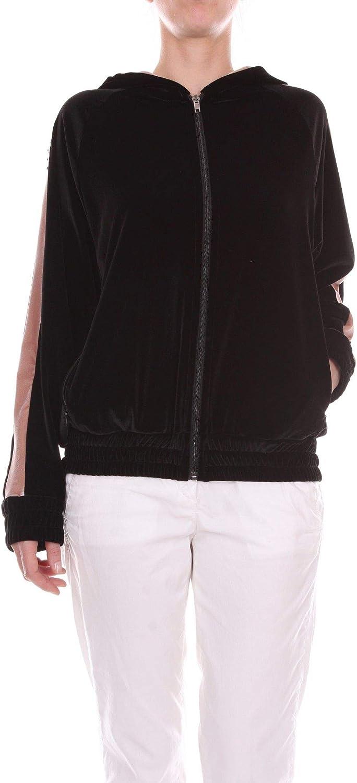 bluegirl Women's 6762BLACK Black Polyester Sweatshirt