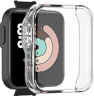 Watch Case Case Kompatybilny z Redmi Watch/Mi Watch Lite TPU Anti-Scratch Watch Protector przezroczysty, inteligentne akce...