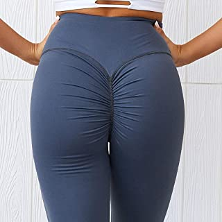 Yoga Pants for Women, High Waist Tight Yoga Pants for Women Plus Size, Training Library Soft Women Yoga Pants for Fitness Outdoor (Color : Blue, Size : XS)