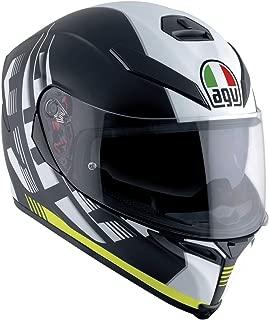 AGV Unisex-Adult Full-face-Helmet-Style Motorcycle (Black/Yellow, Medium/Small)