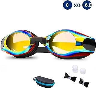 DEFUNX Swim Goggles,Shortsighted Swimming Goggles Myopic with Prescription Lenses Anti Fog for Women Kids Men, Swimming Goggles