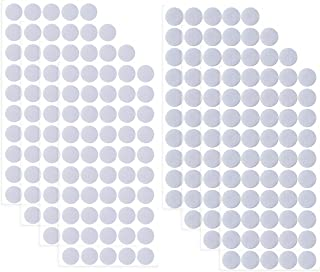 400 Pieces 0.78 Inch Diameter Sticky Magic Dots Nylon Fabric Sticky Back Coins Hook and Loop Adhesive Fastener Circles 200 Pairs,White