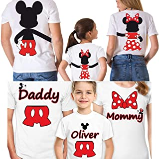Disney Family Shirts Set of 3 Mickey Minnie Mouse Vacation Matching Trip for Gift Tshirts Couple T-Shirt Disneyland White