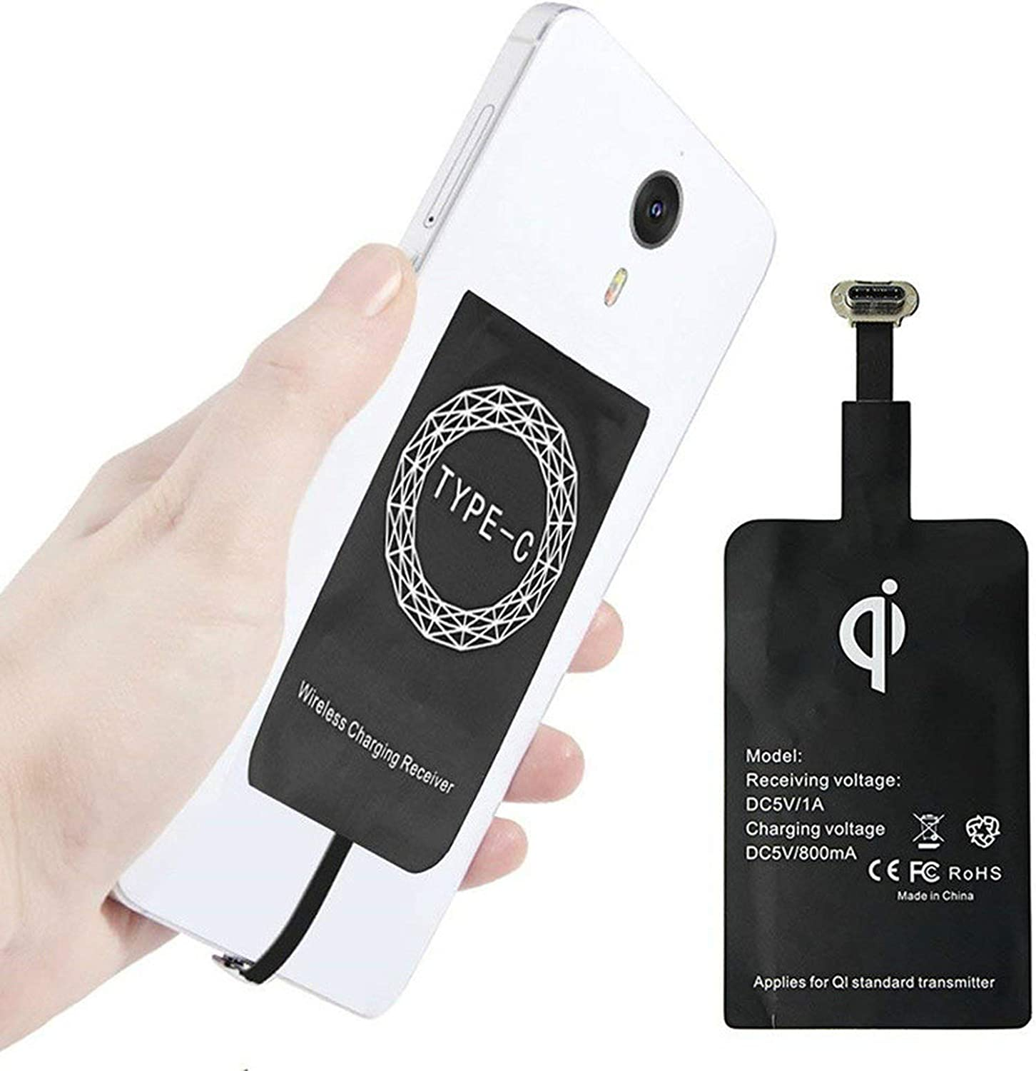 Amazon.com Qi Wireless Charger Charging Adapter Receiver Pad Coil ...