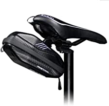 WILD MAN 0.8L Waterproof Fast Release Hard Shell Bike Saddle Bag Under Seat For Mountain Road MTB Bicycle Cycling