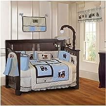 BabyFad Train 10 Piece Baby Crib Bedding Set