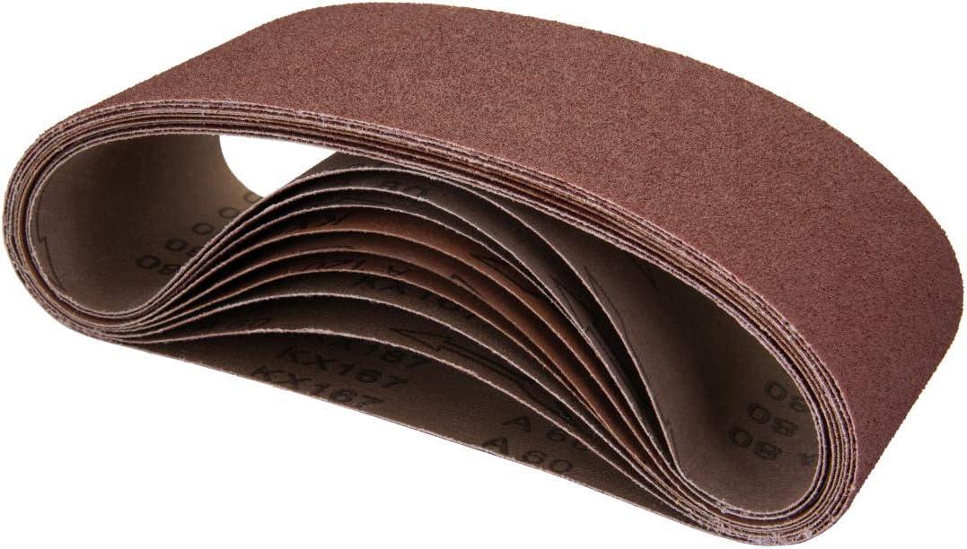 POWERTEC Spasm price 110050 4 x 24 Inch Belts Aluminum Grit 320 Genuine Sanding Ox