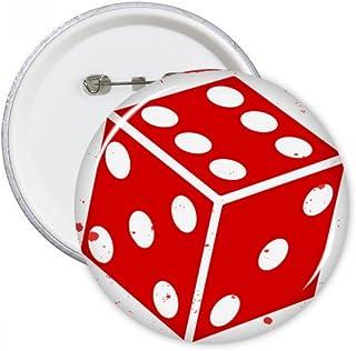 DIYthinker Casino Dés Illustration rond Motif Pins Badge Bouton Vêtements Décoration de cadeau Multicolore S