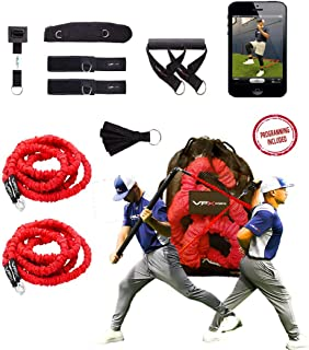VPX 12pcs Resistance Bands Set | 4-Way Stackable Exercise Bands System | Baseball, Softball, Volleyball, Football, Strength, Fitness, Agility, Physical Therapy, Home Gyms, Yoga | Includes Programming