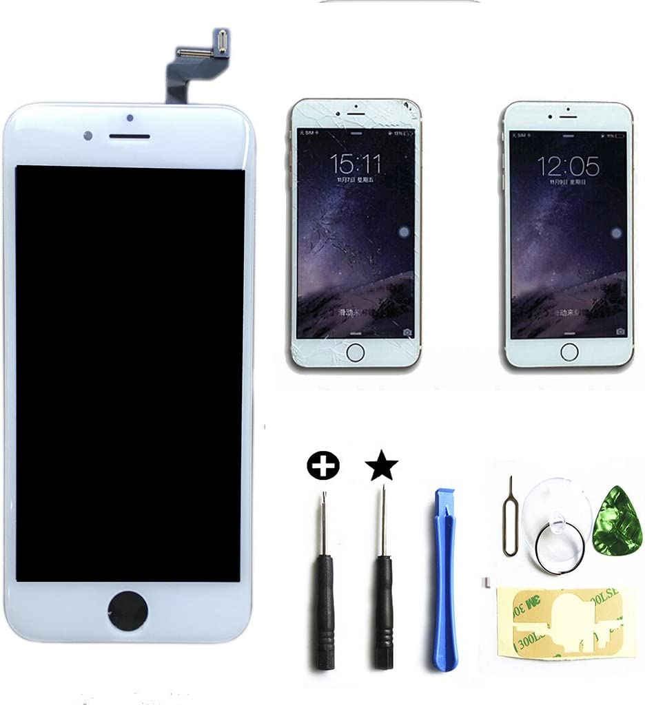 Select Us Compatible iPhone 6S LCD Screen Replacement Digitizer Frame Assembly Full Set (4.7 inch) in White