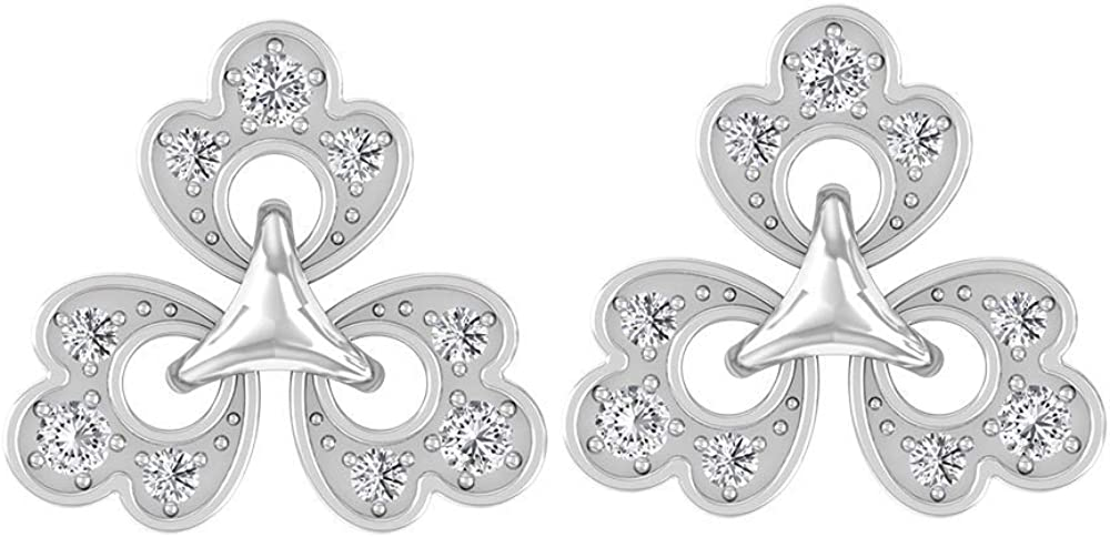 Vintage Tiny 1/4 CT Certified Diamond Flower Stud Earring, Unique Mix Metal Art Deco Gold Engraved Floral Comfortable Earrings, Two Tone Girl Earrings, Screw back