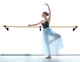 "Pro-Gymnastics Ballet Barre 3 FT Long Single Bar Black 1.5"" Diameter - Fixed Height Wall Mount Ballet Barre System Traditi..."