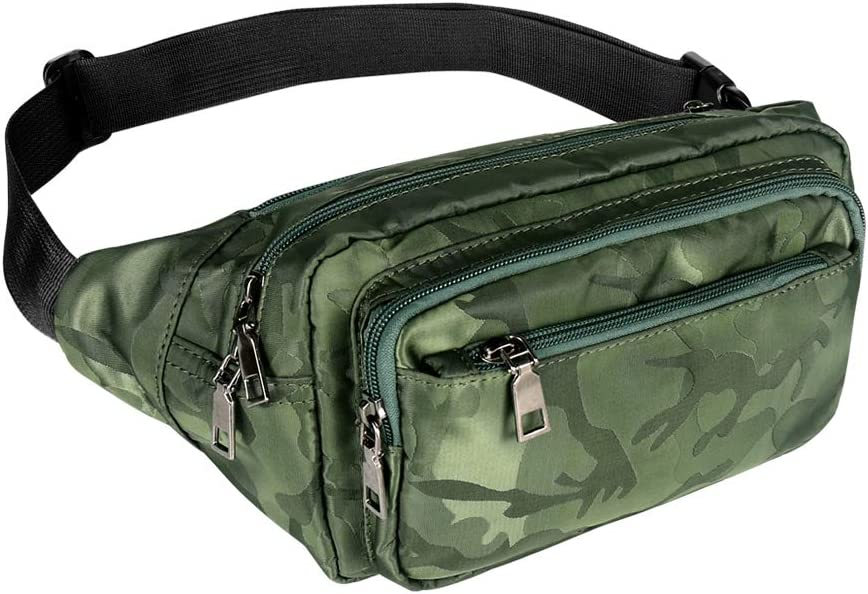 Inventory cleanup selling sale Now free shipping Geestock Camo Fanny Pack Multicolor Waist Bag for MenWomen