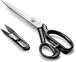 Sewing Scissors - Fabric Scissors 10 inch - Tailor's Dressmaking Shears Heavy Duty for Fabric, Leather Cutting, Sewing, Dressmaking, Tailoring, Altering (Right-Handed, White)