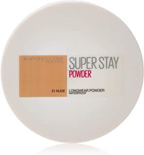Maybelline New York New York New York New York Super Stay 16h Waterproof Powder for Flawless Coverage - 021 Nude, 9g