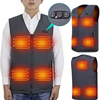 Heated Vest Size Adjustable 7.4V Battery Electric Warm Vest for Hiking