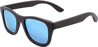 e80d0964de SHINU Polarizadas Gafas de Madera de Bambú Gafas de Sol Lentes de Madera  Vintage y Espejos