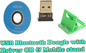 Ultra-Mini Bluetooth CSR 4.0 USB Dongle Adapter for Windows Computer (Black:Golden) (with Driver CD)