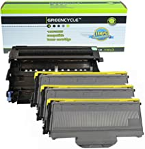 (1 Drum + 3 Toner) GREENCYCLE Replacement Toner Cartridge and Drum Set Compatible for Brother DR360 + TN360 MFC-7340/7440/7840 Series Printer