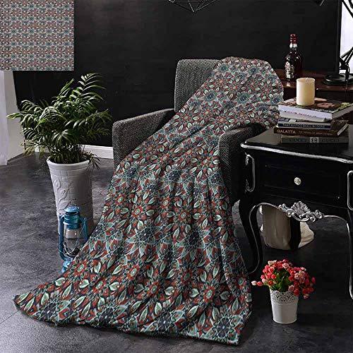 ZSUO Digital Printing Deken Antiek Traditionele Keramische Tegels Sier Marokkaanse Arabische Afbeelding Print Comfortabel Zacht Materiaal, geven u Grote Slaap