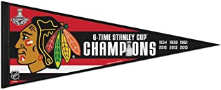 2015 NHL 6-Time Stanley Cup Finals Champions Chicago Blackhawks Premium Pennant 12