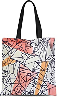 Semtomn Cotton Canvas Tote Bag Bangkok Sep 10 Abstract Graffiti Piece By Unidentified Artist Reusable Shoulder Grocery Shopping Bags Handbag Printed