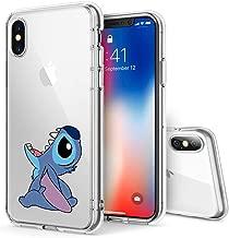 Litech™ Case for Apple iPhone X (2017) / iPhone Xs (2018) [Flexfit] Premium Clear Scratch-Resistant Cute Creative Artistic Design [Wireless Charging Compatible] (Stitch 2)