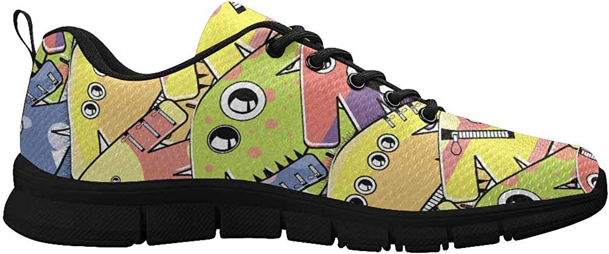 INTERESTPRINT Colorful Cute Funny Women Walking Shoes Comfortable Lightweight Work Casual Travel Sneakers