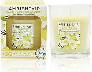 Ambientair. Vela aromática Vainilla. Vela perfumada con cera vegetal y perfume natural con una duración estimada de 30 hor...